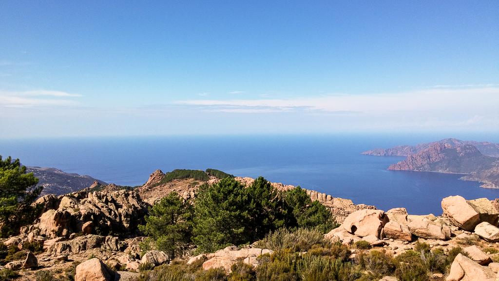 Meeresblick beim Capu d'Ortu